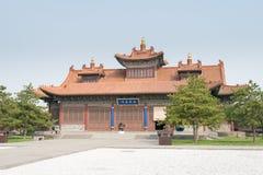 SHANXI KINA - Sept 21 2015: Fahua tempel ett berömt historiskt S Arkivfoton