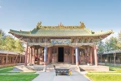 SHANXI KINA - Sept 18 2015: Guandi tempel ett berömt historiskt Royaltyfri Bild