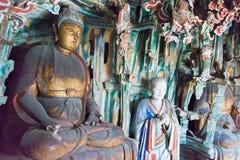 SHANXI KINA - Sept 18 2015: Hängande tempel (den Xuankong templet) A Arkivbild