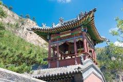 SHANXI KINA - Sept 19 2015: Heng Shan en berömd historiclandsc Royaltyfri Foto