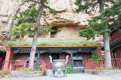 SHANXI KINA - Sept 19 2015: Heng Shan en berömd historisk plats Royaltyfri Bild
