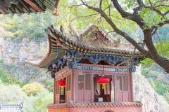 SHANXI KINA - Sept 19 2015: Heng Shan en berömd historisk plats Royaltyfri Foto
