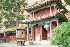 SHANXI KINA - Sept 19 2015: Heng Shan en berömd historisk plats Royaltyfri Fotografi