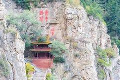 SHANXI KINA - Sept 19 2015: Heng Shan ett berömt landskap i H Arkivfoton