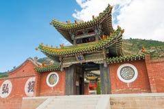 SHANXI KINA - Sept 19 2015: Heng Shan ett berömt landskap i H Royaltyfri Fotografi