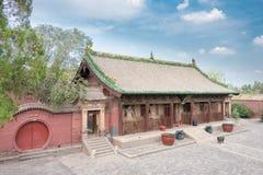 SHANXI KINA - Sept 03 2015: Shuanglin tempel (UNESCOvärlden Heri Arkivfoton