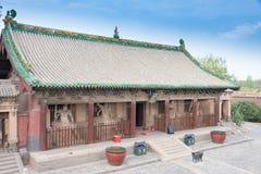 SHANXI KINA - Sept 03 2015: Shuanglin tempel (UNESCOvärlden Heri Royaltyfria Bilder