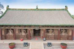 SHANXI KINA - Sept 03 2015: Shuanglin tempel (UNESCOvärlden Heri Royaltyfri Foto