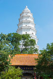 SHANXI KINA - Sept 07 2015: Vit pagod på den Wubian templet A Fotografering för Bildbyråer