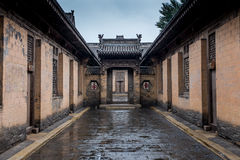 Shanxi historical building. Traditional old building in Shanxi China Stock Photos