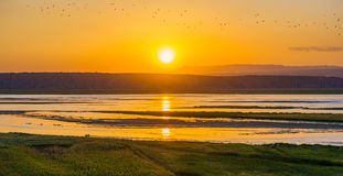 Shanxi Yellow River sunset Royalty Free Stock Photography