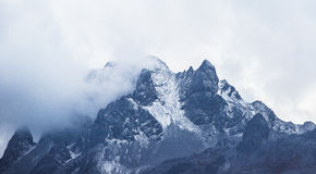 Shanzidou av Jade Dragon Snow Mountain Arkivbild