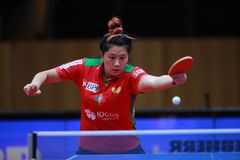 SHAO Jieni from Portugal backhand Stock Photography