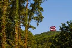 Shao Yang Tower Shaoguan bij piek Royalty-vrije Stock Foto