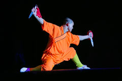 Shaolin with knife Stock Photos