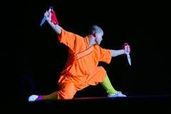 Shaolin met mes Stock Foto's
