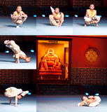 Shaolin monasteru przedstawienie Zdjęcia Royalty Free