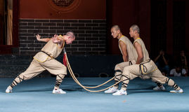Shaolin monasteru przedstawienie Fotografia Stock