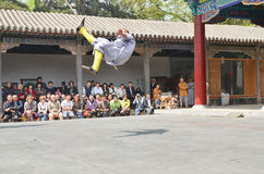 Shaolin Monks Demonstration 4. Shaolin Monks Kung Fu Demonstration in Luo Yang, China Royalty Free Stock Photo