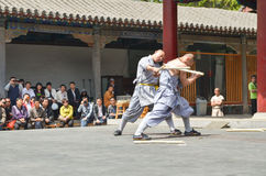 Shaolin Monks Demonstration 5. Shaolin Monks Kung Fu Demonstration in Luo Yang, China Royalty Free Stock Photos