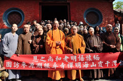 Shaolin monks. Shaolin Temple Talin, China's most famous temples Stock Image