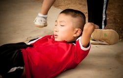 Shaolin studenter Fotografering för Bildbyråer
