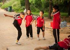 Shaolin studenter Arkivbilder