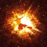 Shaolin Sword Master Illustration Stock Images