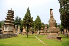 Shaolin tempel, födelseorten av Shaolin Kung Fu Royaltyfri Fotografi