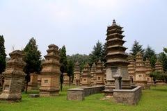 Shaolin tempel, födelseorten av Shaolin Kung Fu Royaltyfria Bilder