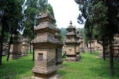 Shaolin tempel, födelseorten av Shaolin Kung Fu Arkivfoto