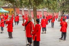 Shaolin tempelKungfu skola royaltyfri bild