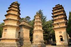 Shaolin Temple. Is the birthplace of Shaolin martial arts, Shaolin Kung Fu in China one of the sources.  is the birthplace of Chinese Zen Buddhism.The tower is Royalty Free Stock Photography