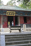 The shaolin temple buddha-hall The snow Pavilion Royalty Free Stock Image