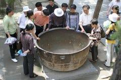 The shaolin temple cast iron pan Stock Photo