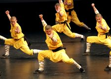 Shaolin Temple of China performs in Bahrain, 2012 Royalty Free Stock Photo