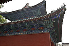 The shaolin temple Chinese architectural style eaves Stock Image