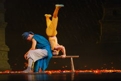 Shaolin Temple Kongfu Show. This is a traditional acrobatics performance, and it's a high-skill kongfu show. It's name is kongfu of Shaolin Temple, because all Stock Photo