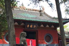 Shaolin Temple in Songshan. Shaolin Temple is located in Songshan, five, Dengfeng, Zhengzhou, Henan. It is called & x22;Shaolin Temple& x22; because it is Stock Photos