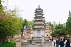 Shaolin Temple in Songshan. Shaolin Temple is located in Songshan, five, Dengfeng, Zhengzhou, Henan. It is called & x22;Shaolin Temple& x22; because it is Royalty Free Stock Image