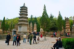 Shaolin Temple in Songshan. Shaolin Temple is located in Songshan, five, Dengfeng, Zhengzhou, Henan. It is called & x22;Shaolin Temple& x22; because it is Stock Image