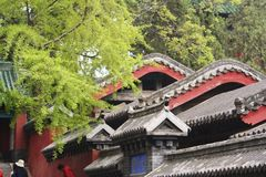 "Shaolin Temple in Songshan. Shaolin Temple is located in Songshan, five, Dengfeng, Zhengzhou, Henan. It is called ""Shaolin Temple"" because it is Royalty Free Stock Image"