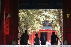 Shaolin Temple in Songshan. Shaolin Temple is located in Songshan, five, Dengfeng, Zhengzhou, Henan. It is called & x22;Shaolin Temple& x22; because it is Royalty Free Stock Photos