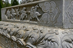 The shaolin temple stone carving Royalty Free Stock Photography