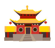 Shaolin temple vector icon Stock Image