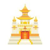 Shaolin temple vector icon Stock Photos