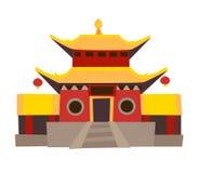 Shaolin Temple Vektorikone Stockbild