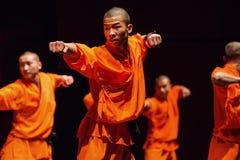 Shaolin warrior stock photo