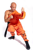 Shaolin warrior monk Stock Images