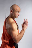 Shaolin warrior monk Stock Image